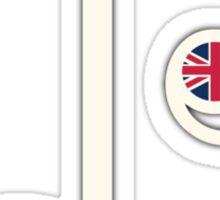 UK Music Note Sticker