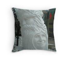 another snow sculpture Throw Pillow