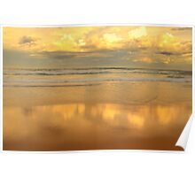 Golden Mirror - Warriewood Beach - The HDR Series Poster
