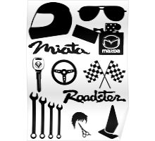 Miata Roadster Originals Poster