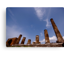 Italian Ruins Rome and Pompeii Canvas Print