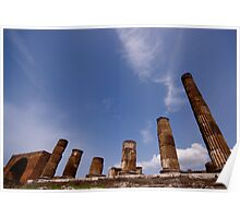 Italian Ruins Rome and Pompeii Poster