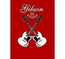 Double Gibson sg white Photographic Print