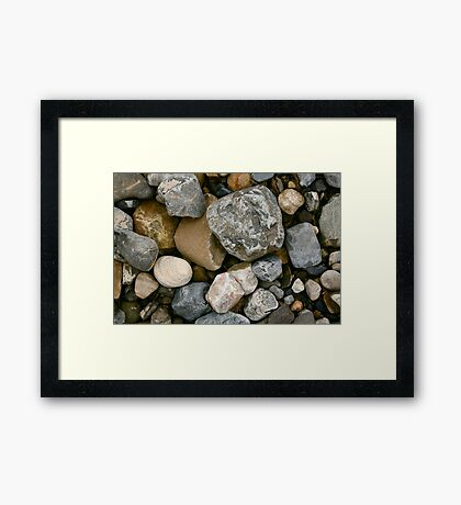 Rocks and Stones in Donegal Framed Print