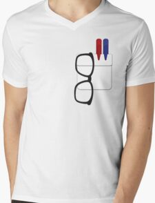 Geek Essentials Mens V-Neck T-Shirt