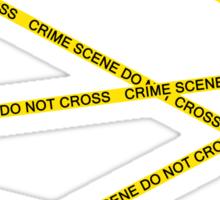 Crime Scene Do Not Cross Sticker