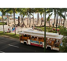 Waikiki Trolley Photographic Print