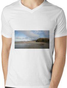 Beach Galway Co Ireland Mens V-Neck T-Shirt
