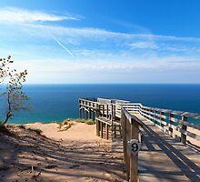 Sleeping Bear Dunes Overlook by Craig Sterken