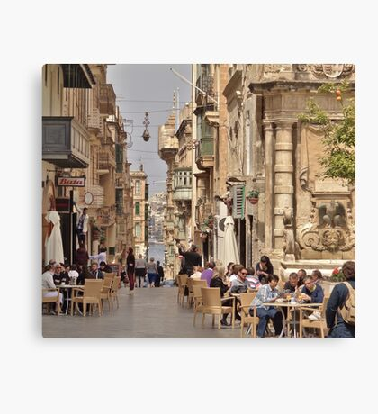 Cafe Culture Mediterranean Style Canvas Print
