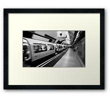 London Underground Tube Commute Framed Print