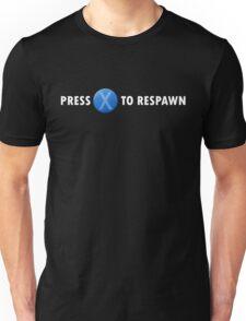 Press X to Respawn (White) Unisex T-Shirt