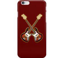 Double fender jazz bass lefty  iPhone Case/Skin