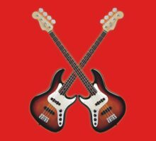 Double fender jazz bass lefty  by mayala