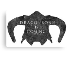 Dragonborn is coming Canvas Print