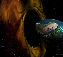 Black Hole Event Horizon 02 - Side view by Sazzart