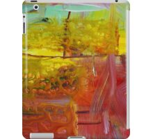 Abstract Red Gold Painting  iPad Case/Skin