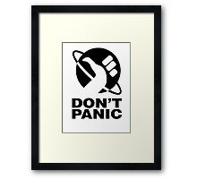 Don't Panic - Hitchhikers Guide Framed Print