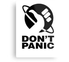 Don't Panic - Hitchhikers Guide Metal Print