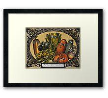 Veggie Day Framed Print