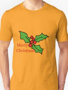 Merry Christmas Holly Tee Unisex T-Shirt