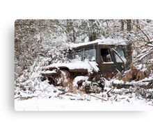 My Dad's Jeep 2 Canvas Print