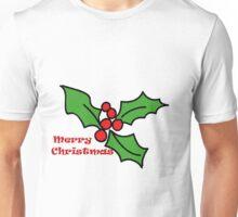 Merry Christmas Holly 1 Unisex T-Shirt