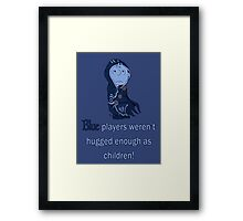 Charlie Brown's a blue player Framed Print