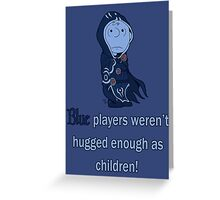 Charlie Brown's a blue player Greeting Card