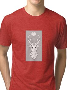 Greyscale Stag  Tri-blend T-Shirt