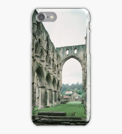 Nave to west From altar area of church of Abbey Rievaulx North Yorkshire England 198406020041 iPhone Case/Skin