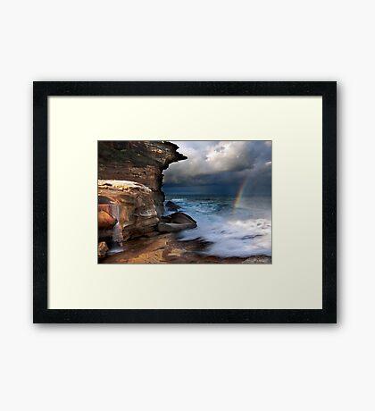 Falling Water, Falling Light Framed Print