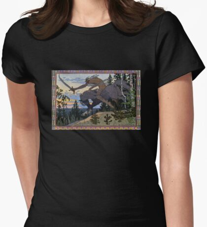 'Fantasy Poster' Art Nouveau (Reproduction) Womens Fitted T-Shirt