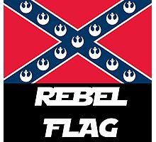 Star Wars Rebel Flag (Text Version) Photographic Print