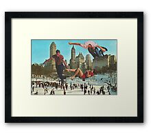 SNOW FUN. Framed Print