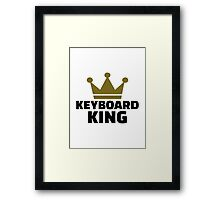 Keyboard King Framed Print