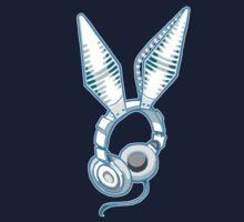 White Rabbit Earphones by Mary C