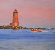 Whaleback Lighthouse - Day is Done by jackmckenzieart