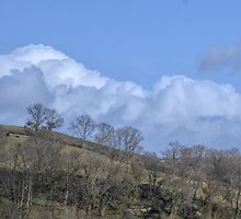 Cloudy Hills Around Devon UK by lynn carter