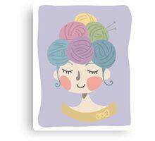 Knit Wit Canvas Print