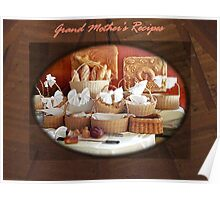 Grand Mother's Recipes Book Poster
