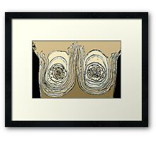 Beneith my Breast Beats a Heart Framed Print