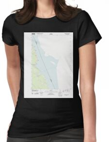 Maine USGS Historical Map Robbinston 20110829 TM Womens Fitted T-Shirt