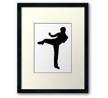 Martial arts Karate kick Framed Print