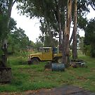 Farm Toyota Resting in the Shade by 4spotmore