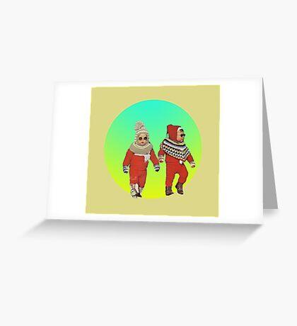 BABY THUGS. Greeting Card