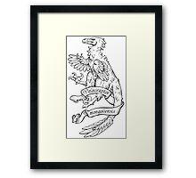 Heraldic Velociraptor Framed Print