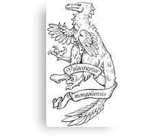 Heraldic Velociraptor Metal Print