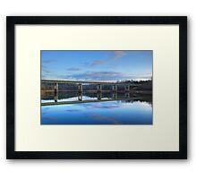 Reflection on Grayson Lake Framed Print