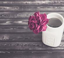 Rustic Fuschia Carnation by KJ DeWaal